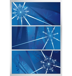 blue snowy pattern three backgrounds vector image