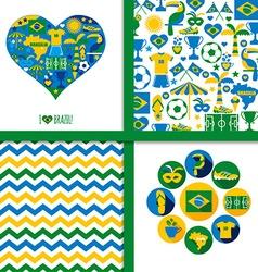 Brazil background set vector image