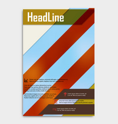 Business multipurpose annual report brochure vector