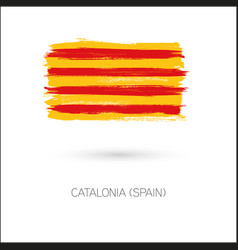 Catalonia brush strokes painted country flag vector