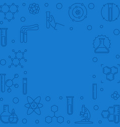 chemistry blue square outline background vector image