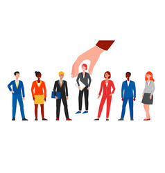 choice candidate or employee for a vacancy vector image