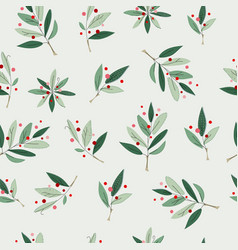 Christmas tree winter season collage pattern vector