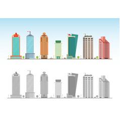 city skyline decorative isolated skyscraper vector image