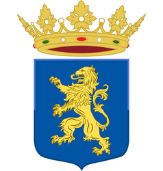 Coat of arms of leeuwarden friesland of vector