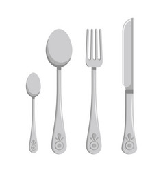 collection of kitchen cutlery vector image