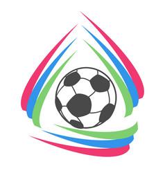 color stripes circle soccer logo vector image