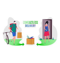 Contactless delivery image vector