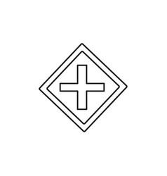 crossroad sign icon vector image