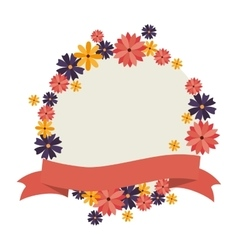 Cute floral decoration card vector