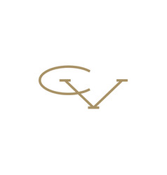 cv letter mark initial logo icon vector image