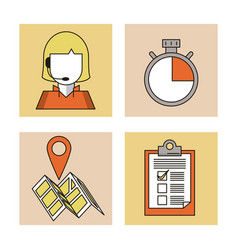 Delivery and logistic icons set vector
