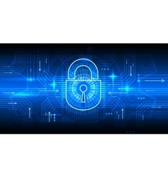 Digital information security concept with lock vector