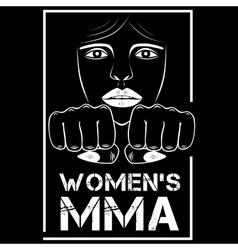 female MMA vector image