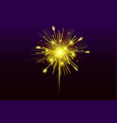 festive fireworks on black background vector image