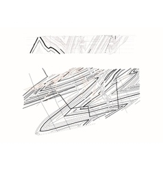 Geology coal mine drawing vector