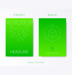 green minimalist brochure design vector image
