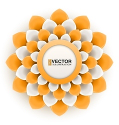 Greeting card or background with orange flower vector
