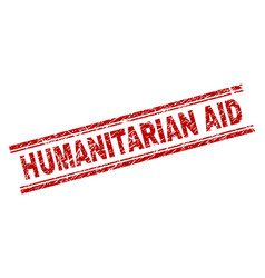 Grunge textured humanitarian aid stamp seal vector