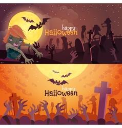 Halloween Banners Set vector