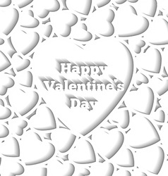 happy valentines day card template hearts vector image