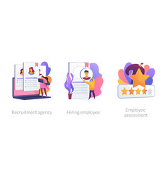 Human resources specialist concept vector