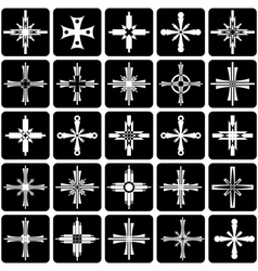 icons with crosses design vector image