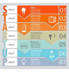Infographic of Startup concept vector image