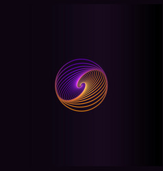 isolated abstract colorful round shape logo space vector image