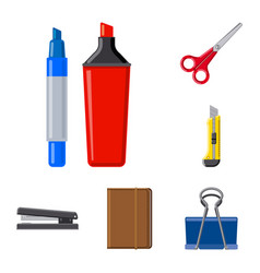 isolated object of office and supply logo set of vector image