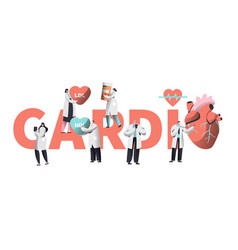 medical cardiology worker care heart health vector image