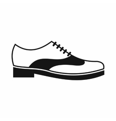 Men shoe with lace icon simple style vector image