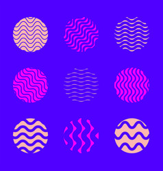 minimal abstract design element set vector image