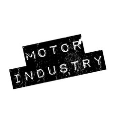 motor industry rubber stamp vector image