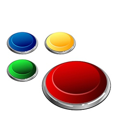 Multi-coloured buttons vector