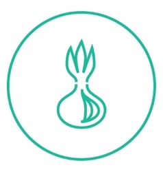 Onion line icon vector