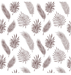 palm tree leaves seamless tropical leaves vector image