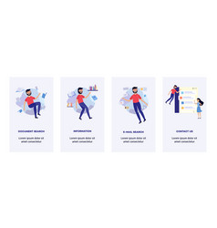 people in information surroundings banners set vector image