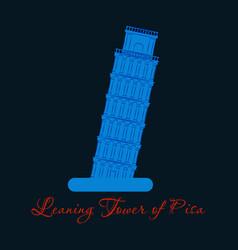 Piza tower italy icon design vector