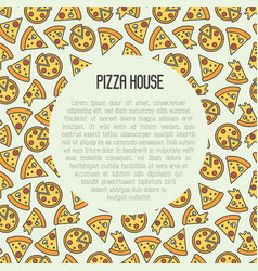 Pizza concept with thin line icons vector