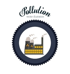Pollution design vector image
