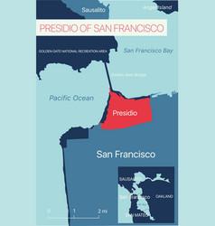 Presidio san francisco editable map vector