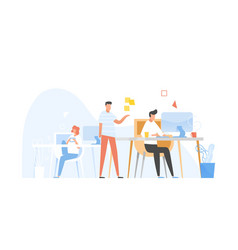 programmers or coders working together front-end vector image