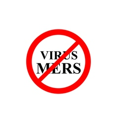 Prohibiting sign virus Mers vector