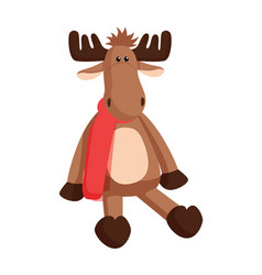 reindeer toy claus factory vector image