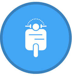 Scooter glyph multi color background vector