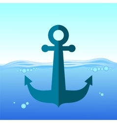Sea Metal Anchor vector