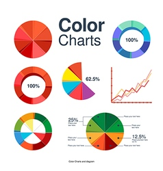 Set of charts vector image