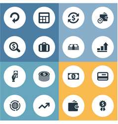 Set of simple currency icons vector