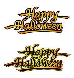 set of two happy halloween logos vector image